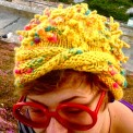 Anemone hat, made by Julianne