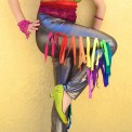 rainbow fringe pants