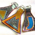 glitter key fobs, made by Julianne