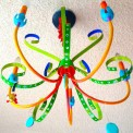 rainbow painted chandelier