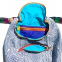 psychedelic dream backpack, made by Julianne
