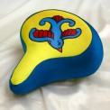 painted bicycle seat cover