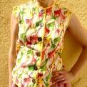 vintage giraffe blouse