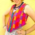 psychedelic puzzle vest