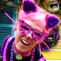 Mardi Gras cat costume