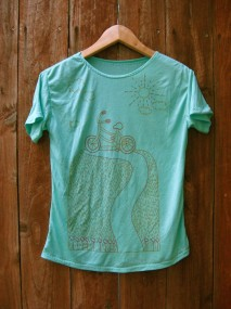 green bicycle tee