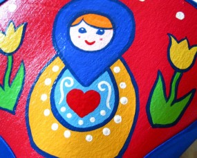 blue Russian doll seat
