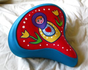 teal Russian doll seat