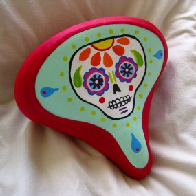 key lime Day of the Dead bike seat cover