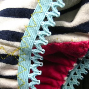 nautical blue panties detail