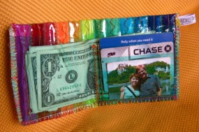 rainbow wallet inside