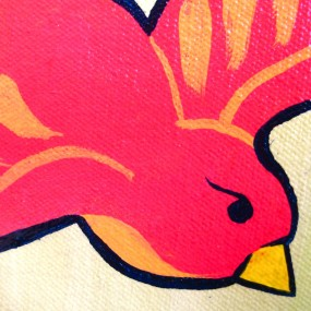 avocado bird cover detail