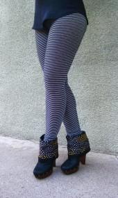 silver striped leggings