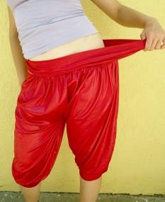 coral genie pants