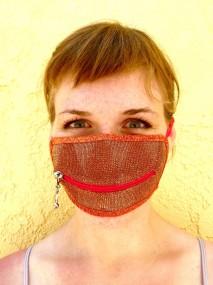 copper candy zipper mask