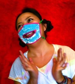Danielle in a velvet mask