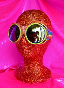 rainbow goggles