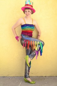 rainbow fringe leggings