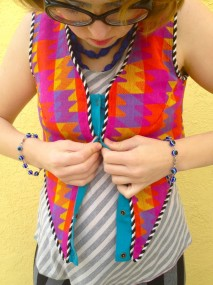 psychedelic puzzle vest snappy