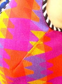 psychedelic puzzle vest detail