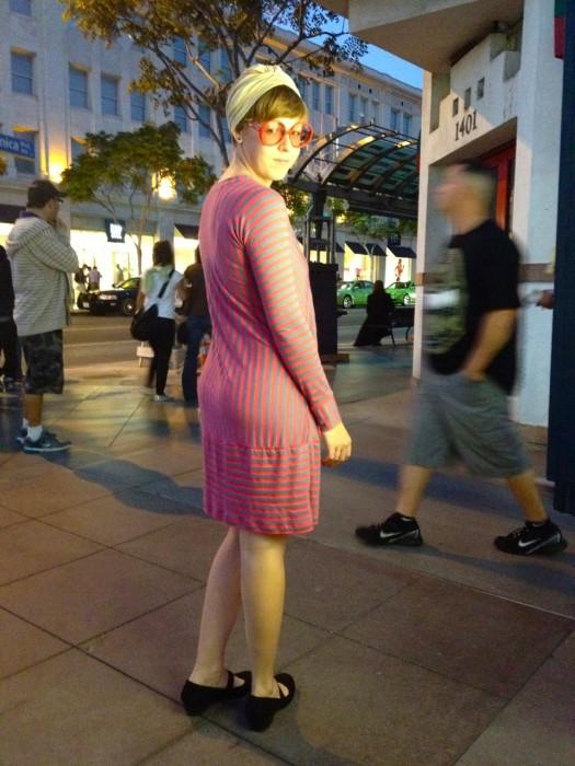stripe sack dress