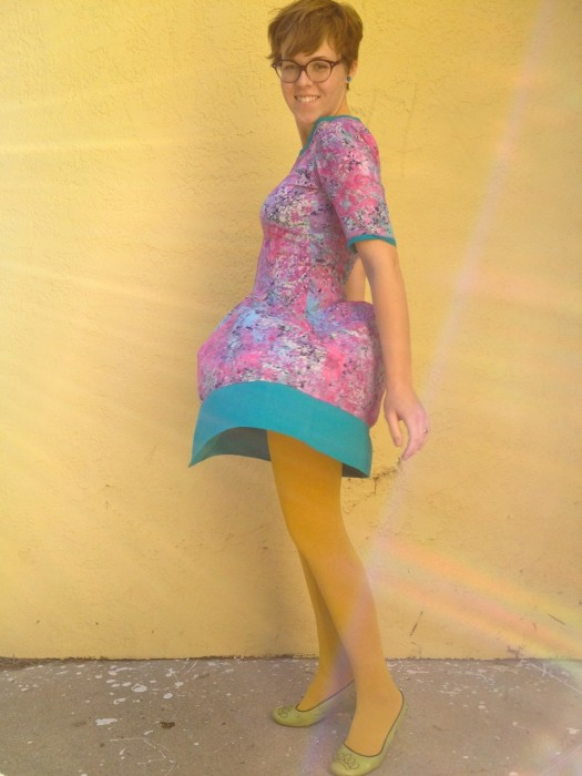 Galactic Cotton Candy dress, made by Julianne