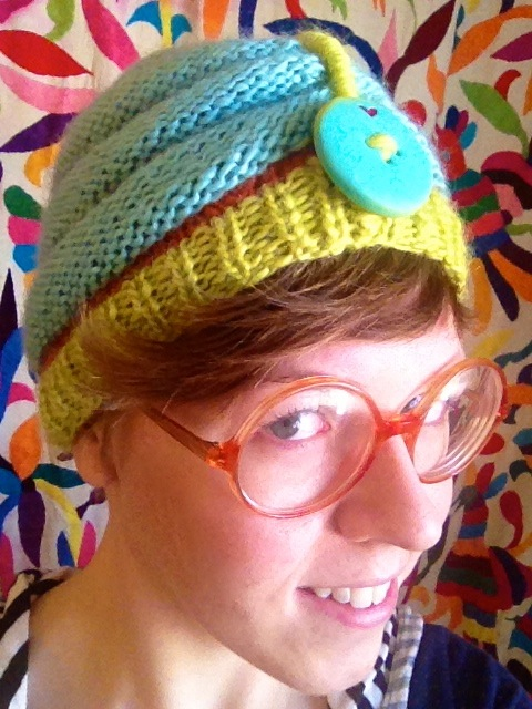 knit beehive turban, Made by Julianne