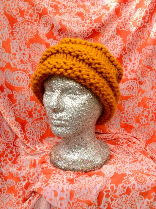 hat knit in the round, Made by Julianne