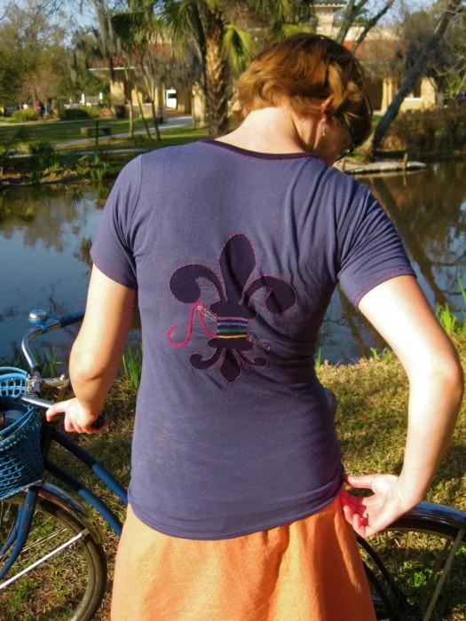 fleur de logo tee, made by Julianne