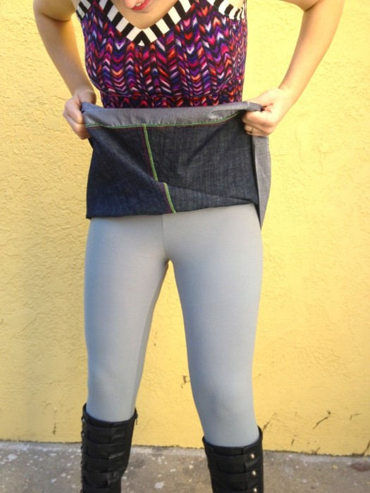 lycra leggings, made by Julianne
