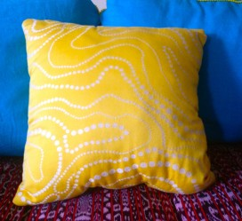 pillow, made by Julianne