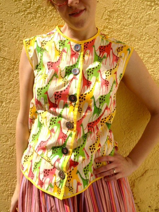 vintage giraffe blouse, made by Julianne