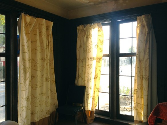 Throop curtains, made by Julianne