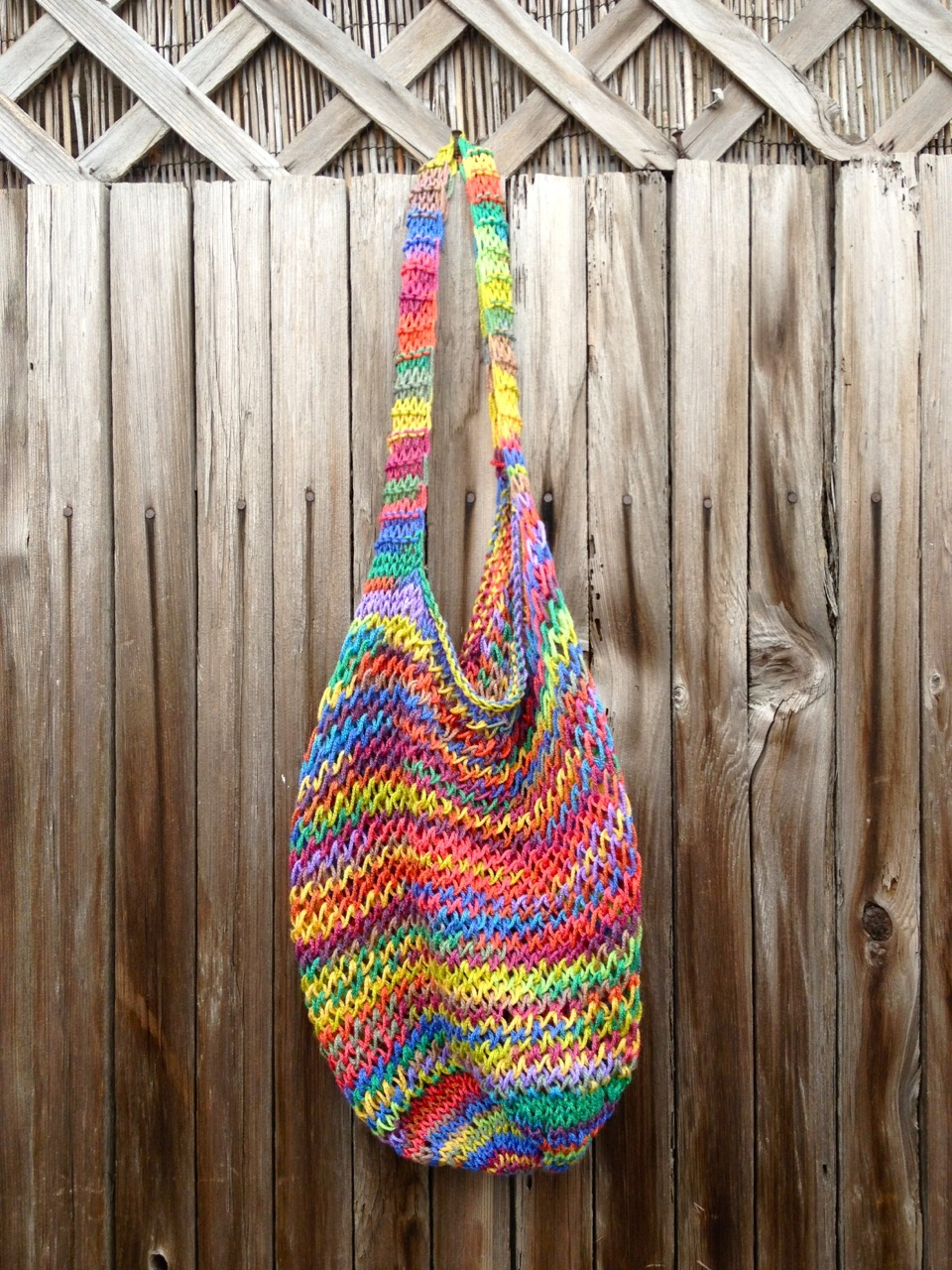 KNIT RAINBOW BAG | made by Julianne