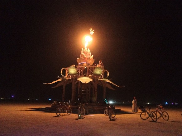 Bottlecap Gazebo, Burning Man 2012, made by Julianne
