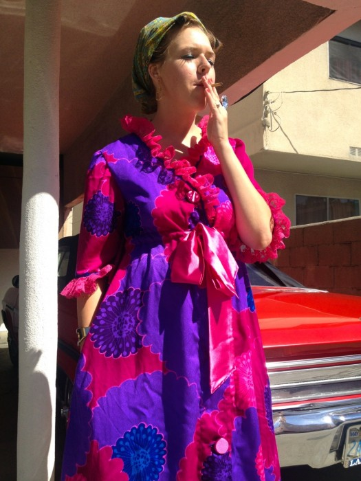 Mad Men vintage psychedelic bathrobe, made by Julianne