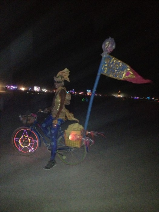 Goldfish on a rocketship, Burning Man 2013, made by Julianne