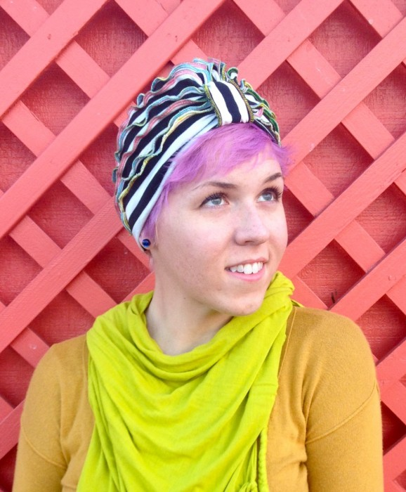 turban, made by Julianne