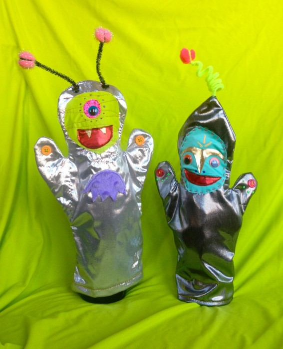 alien puppets, made by Julianne