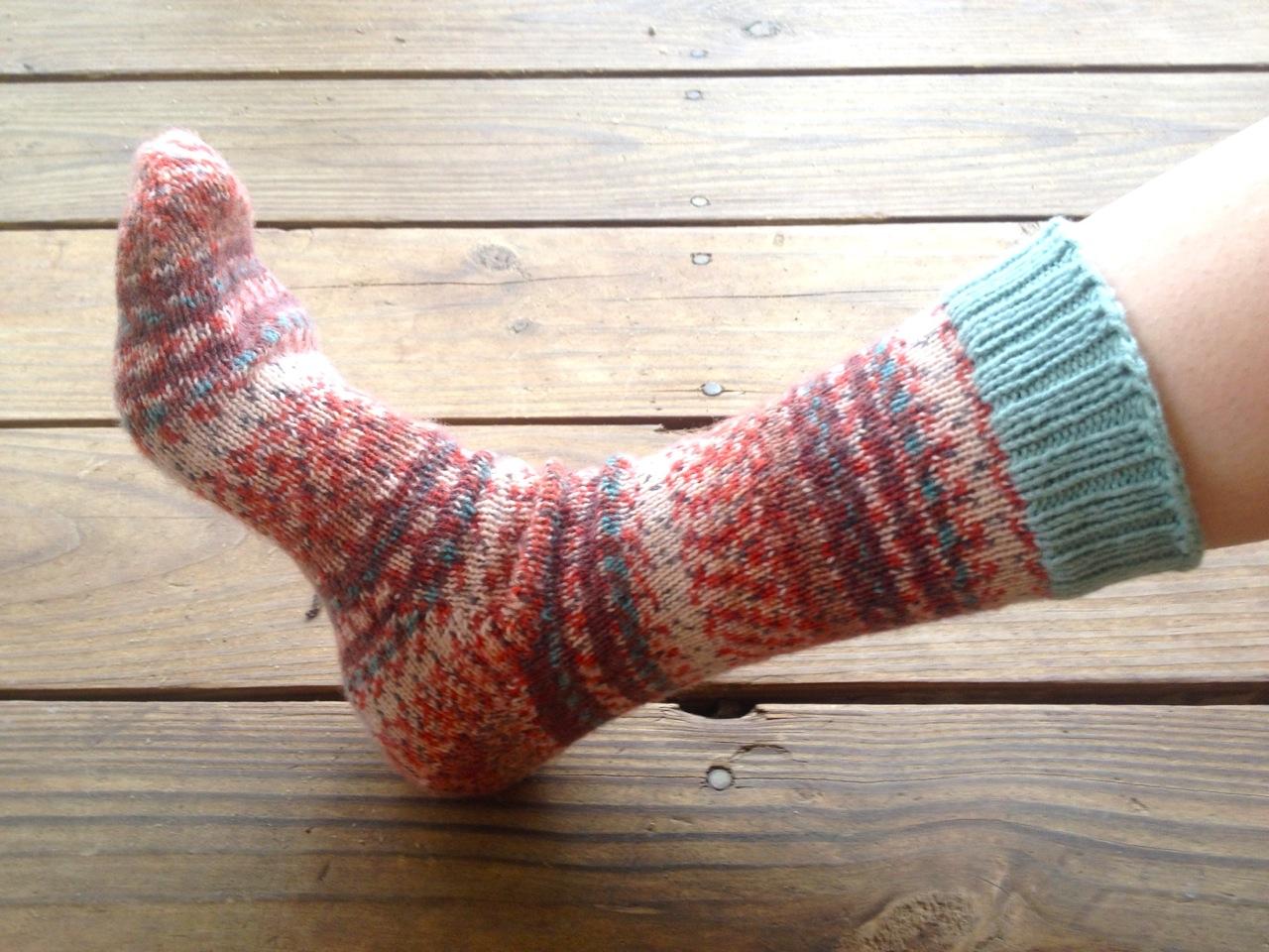 Self Striping Socks Made By Julianne
