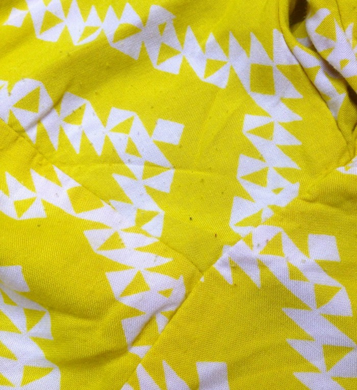 yellow zigzag dress, made by Julianne