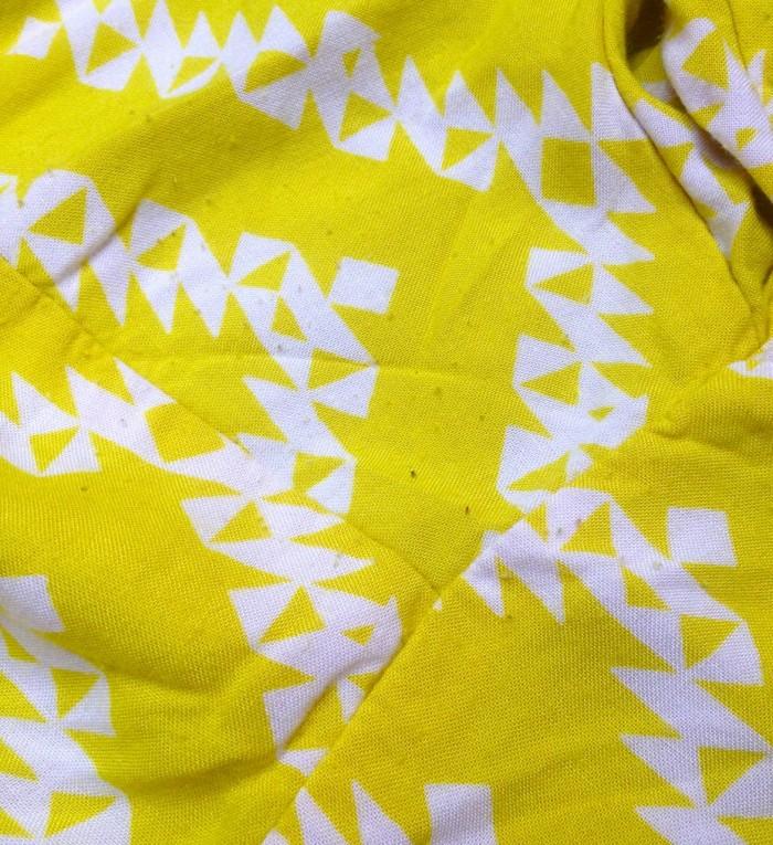 yellow zigzag dress, made by Julianne