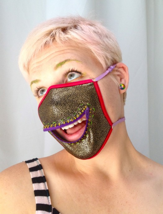 zipper mask, made by Julianne