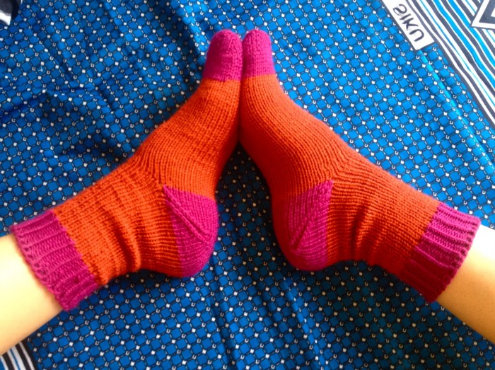 friendship socks, made by Julianne