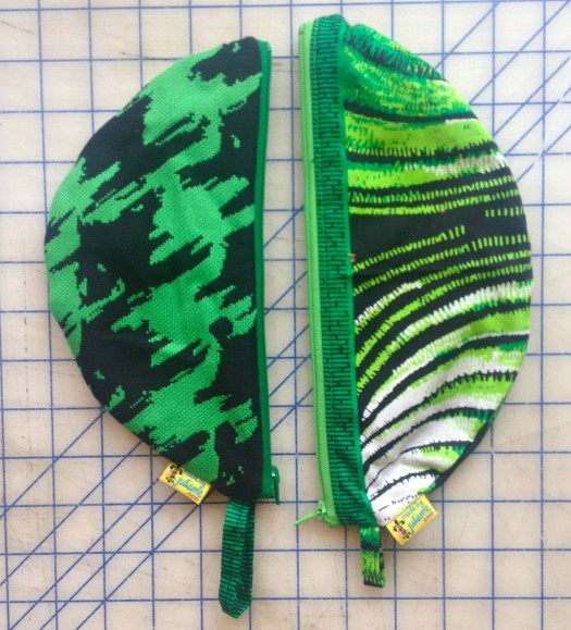 zipper bags, made by Julianne