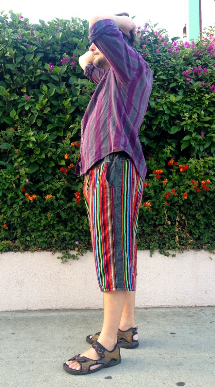 rainbow pants, made by Julianne