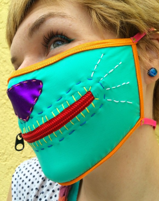zipper mask, made by Julianne