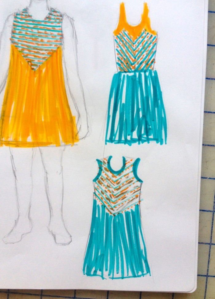 birthday dress sketches