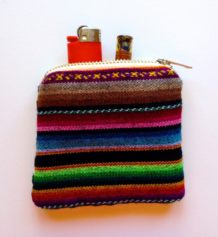 zipper stash bag, made by Julianne