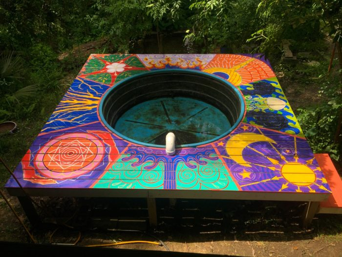 Regeneration Springs deck painting, made by Julianne